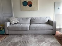 Modern and Chic Calvin Klein Gray Fabric  2-Seat Sofa Chicago, 60606