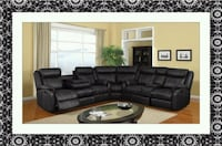 Chapel sectional black leather free shipping  Temple Hills