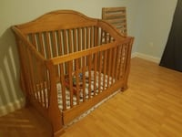 Crib needs minor repairs solid wood