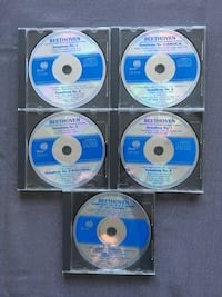 Beethoven Classical Music CD set of 5 compact discs,Symphonies 1-9 new