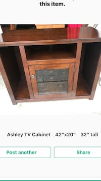 "Ashley Tv Cabinet.      42"" wide 1198 mi"