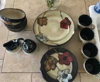 16 piece dinnerware set with matching sugar and cr Lancaster, 93536