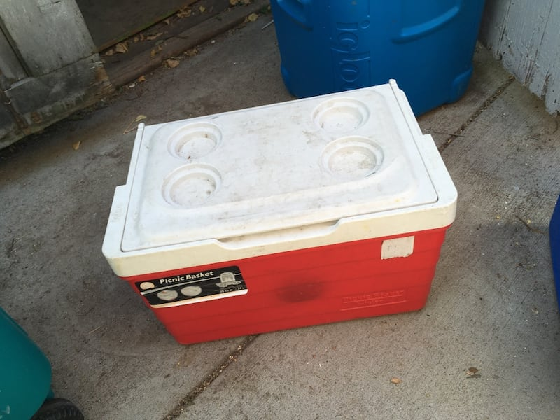 2 coolers for $5 a piece 1