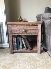 Distressed style end table  Cleveland
