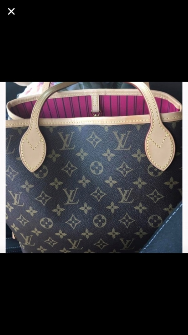 43efeb2e340a Used black Louis Vuitton monogram canvas leather tote bag screenshot for  sale in New York - letgo