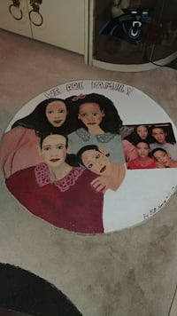 round we are family area rug