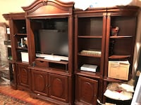 10 Piece Hardwood Entertainment Center  Sterling, 20165