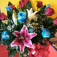 blue, pink, and yellow flower arrangement Pomona, 91768