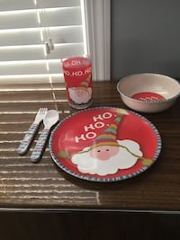 Santa Plate/Bowl/Cup with Fork/Spoon 3149 km