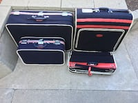 Vintage Skyway Blue Tweed Luggage w/ Rollers Los Angeles, CA, USA