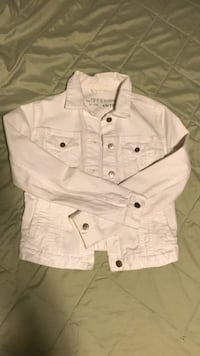 GAP XS white denim jacket  Vancouver, V6J 1L4