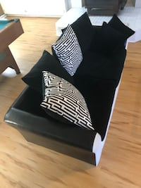 black and white leather sofa Fort Lee, 23801