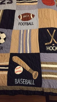 Boys Sports quilt/sham -pottery barn look, non smoking no pet home New Westminster, V3L 4P8