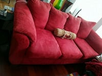 Red couch ,very good condition  Littleton, 80128