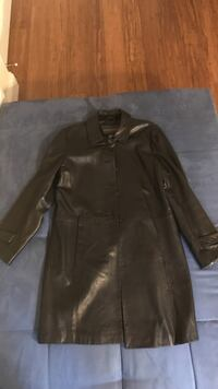 Women's black leather button-up jacket Sunny Isles Beach, 33160