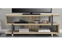 """Ryker TV Stand for TVs up to 70"""", Brown Oak 1203 mi"""
