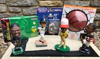 4 BOBBLEHEADS, 3D DECO NIGHT LIGHT, 1998 NY YANKEES STARTING LINEUP PLAYER, & BASEBALL CARD GAME Union, 41091