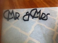 Mr. & Mrs Wedding Sign Toronto, M2N