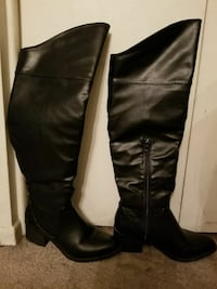 Knee high black boots size 8