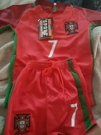 Small child's Portugal  Ronaldo soccer outfit