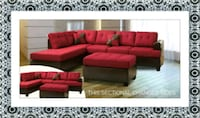 Red sectional free Ottoman and delivery McLean