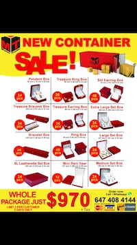 Jewellery packaging, holidays sale package Mississauga, L4X 1L8
