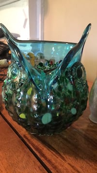 green and black ceramic vase Wilmington, 28401