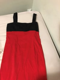 S red and black zara slip dress knee length Toronto
