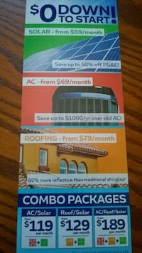 We do Solar /Ac /Roofing Bakersfield