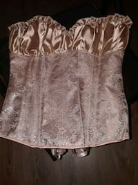 Lace up back gold rose gold chrome lingerie top Schenectady, 12307