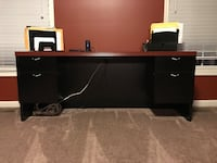 black wooden TV stand with flat screen TV Hagerstown, 21740