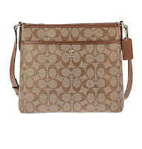Coach Signature Zip File Crossbody Bag  Springfield, 45503