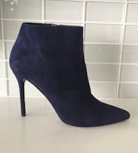 Stuart Weizmann navy blue ankle boot. Gorgeous. I wore twice but don't fit me properly so have to sell them. Super stylish. Goes with everything.  Burnaby, V5B 1H1