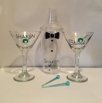 New Martini glasses and shaker Barrie, L4M 2M4