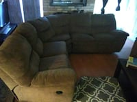 brown fabric 3-seat recliner Austin, 78745
