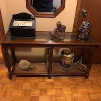 Console table with matching mirror Vaughan