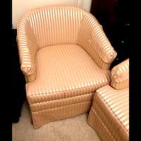 Two Yellow Tub Chairs Upholstered in Toronto Richmond Hill