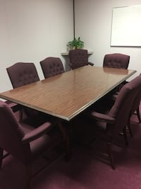 Rectangular brown wooden table with chairs dining set Pearland, 77581