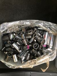Matco mix of chrome and impact sockets (approximately 180 pieces)