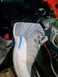 white-and-blue Air Jordan 12 shoes Gaithersburg, 20879