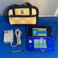 Nintendo 3DS System Blue Guaranteed Working With Charger, Stylus, Case