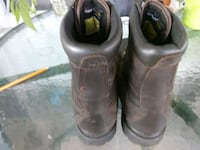 pair of brown leather boots Tamaqua