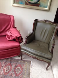 Green leather chairs with optional red cover  Gaithersburg, 20879