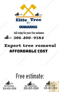 Tree removal and exterior North Battleford