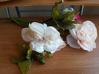 two white artificial flowers
