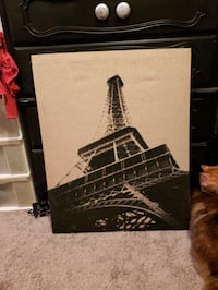 Eiffel Tower fabric wrapped canvas 24x30