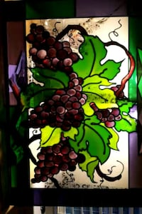 Grape Clusters Faux Stained Glass La Plata, 20646