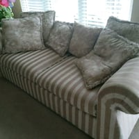 gray and white striped sofa Rockville, 20850