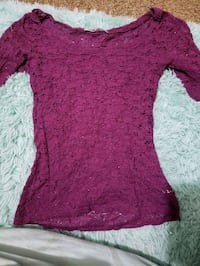 Maurices purple lace top
