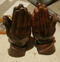 Praying hands book ends